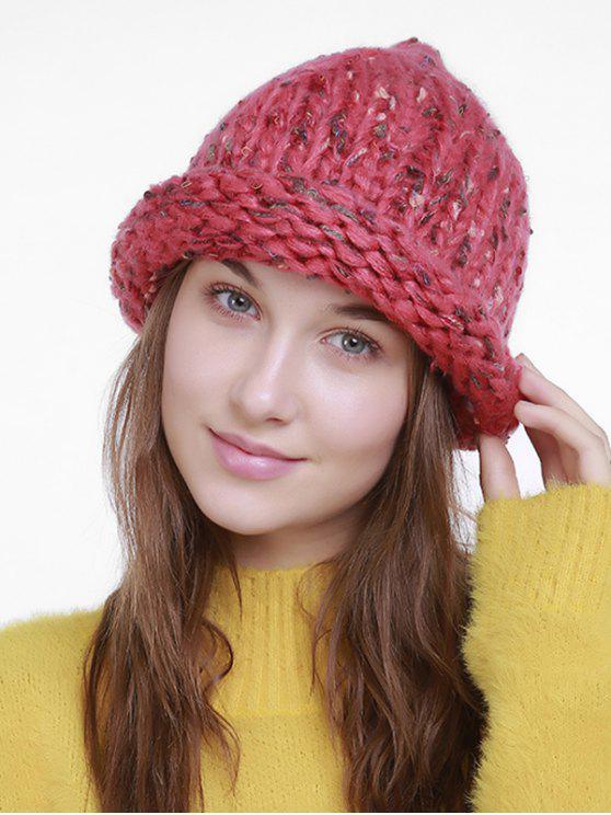 bonnet tricot en crochet ext rieur croch tangerine chapeaux zaful. Black Bedroom Furniture Sets. Home Design Ideas
