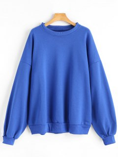 Slouchy Striped Oversized Sweatshirt - Blue
