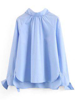 Self-tie Long Sleeve Top - Azure M