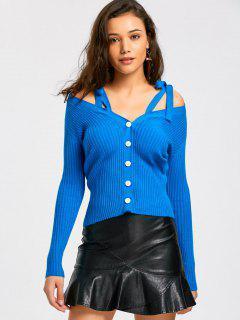 Self Tie Straps Knitwear - Blue M