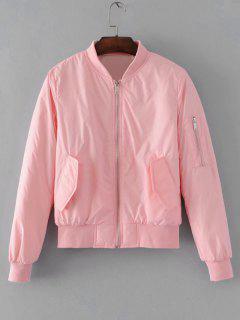 Polit Jacke Mit Klapptaschen Und Reißverschluss - Pink M