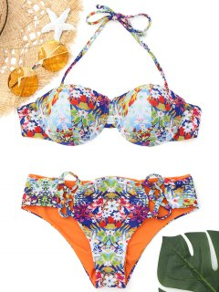 Push Up Printed Underwire Bikini - S