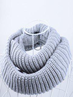 Outdoor Chunky Infinity Knitted Scarf - Gray