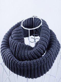 Outdoor Chunky Infinity Knitted Scarf - Stone Blue