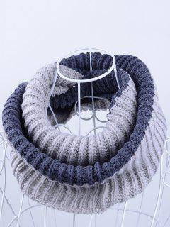 Slouchy Lightweight Knitted Infinity Scarf - Gray