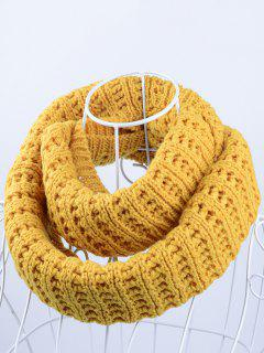 Soft Simple Color Knitted Infinity Scarf - Ginger