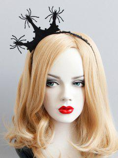 Halloween Crown Spider Lace Hairband - Black