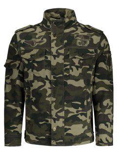 Camo Field Jacket - Camouflage L