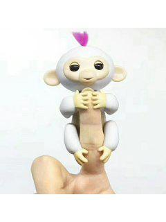 Smart Sensor Baby Monkey Mini Interactive Fingerlings - White
