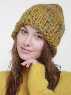 Outdoor Crochet Slouchy Knited Beanie - Yellow