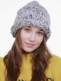 Outdoor Crochet Slouchy Knited Beanie - Light Gray