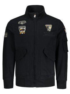 Patch Design Jacket - Black 4xl