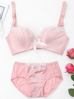 Push Up Plunge Bra Set - Pink 70b