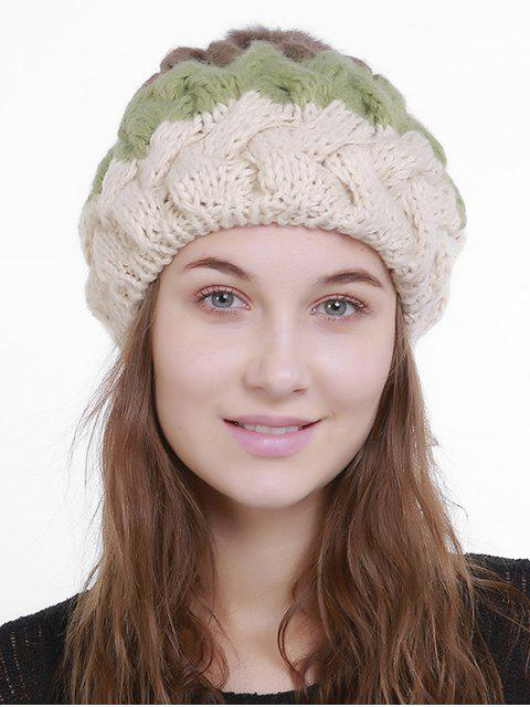 buy Outdoor Crochet Pom Knit Beanie -   Mobile