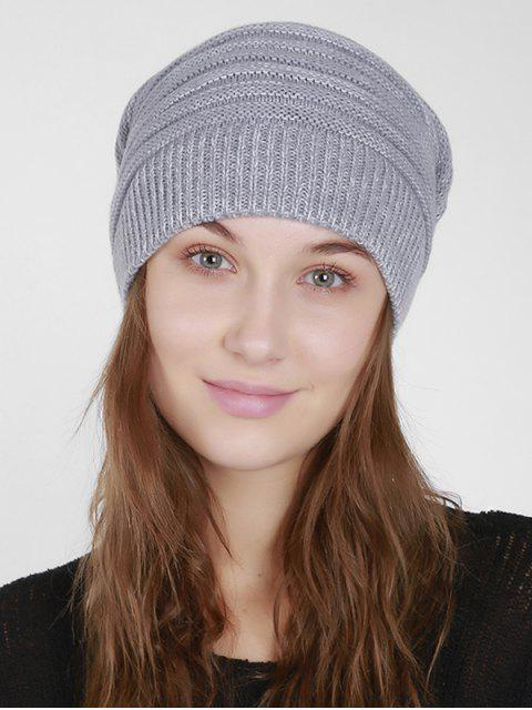 Mixcolor Knit Beanie Hut - Hellgrau  Mobile