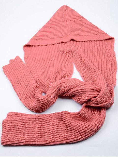 Bufanda larga con capucha al aire libre - Sandia Roja  Mobile