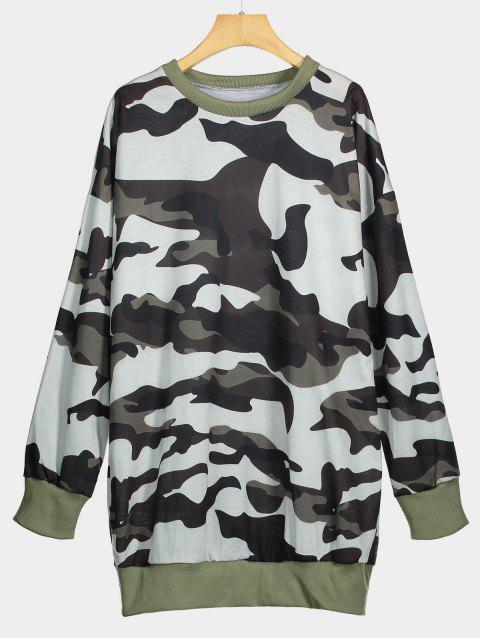 Sweat-shirt Long Ras du Cou Camouflage - Camouflage S Mobile