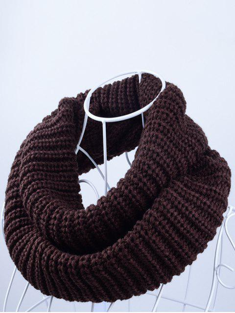 sale Outdoor Chunky Infinity Knitted Scarf - ESPRESSO  Mobile