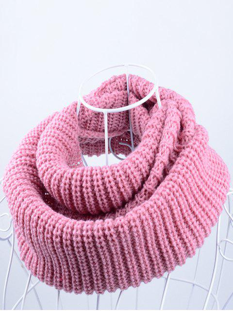 women Outdoor Chunky Infinity Knitted Scarf - PAPAYA  Mobile