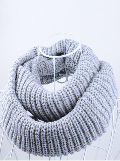 outfit Outdoor Chunky Infinity Knitted Scarf - GRAY  Mobile