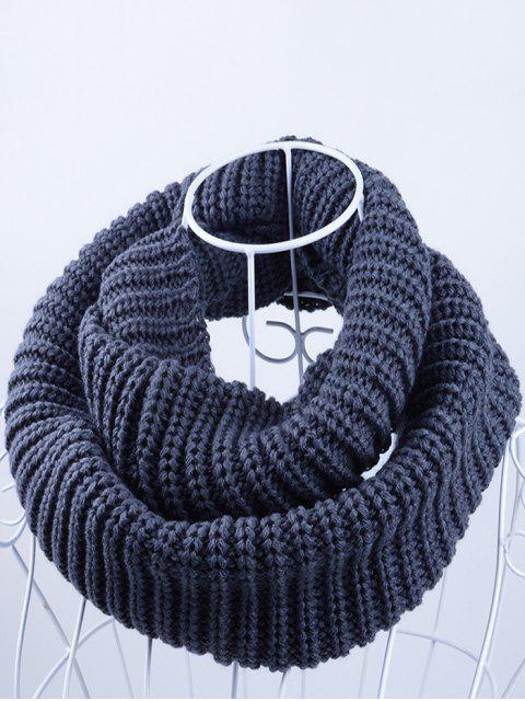 shops Outdoor Chunky Infinity Knitted Scarf - STONE BLUE  Mobile