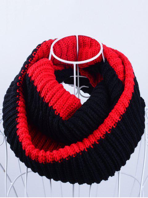 Slouchy - Bufanda de punto liviana de punto - Rojo Negro  Mobile