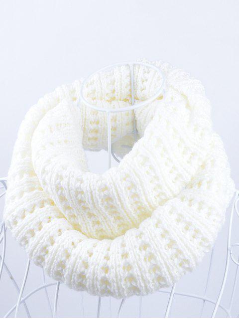 Écharpe en tricot à fond blanc simple - Blanc  Mobile