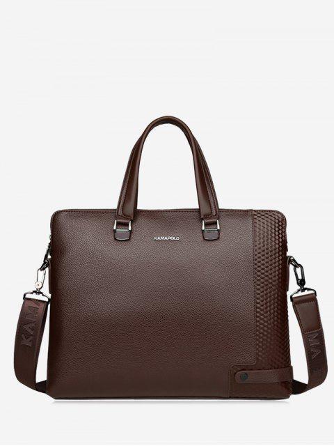 online Metal Strap Letter Handbag - BROWN  Mobile