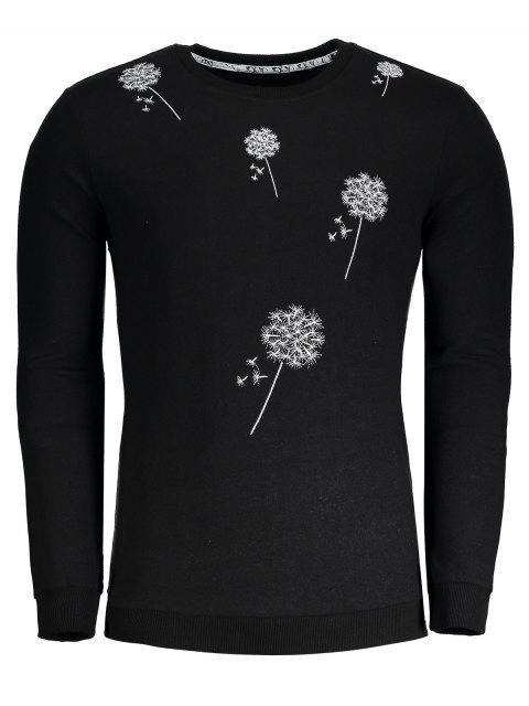 Sweat-shirt Brodé Pissenlit - Noir L Mobile