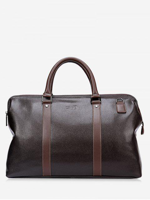 best Rivet Stitching PU Leather Tote Bag - BROWN  Mobile