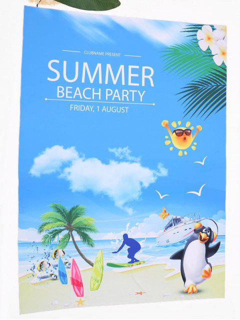 shops Cartoon Landscape Print Beach Throw - COLORMIX ONE SIZE Mobile