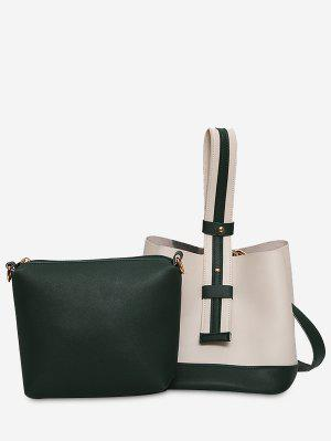 Color Block Two Tone Handbag
