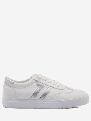 Striped Contrasting Color Skate Shoes