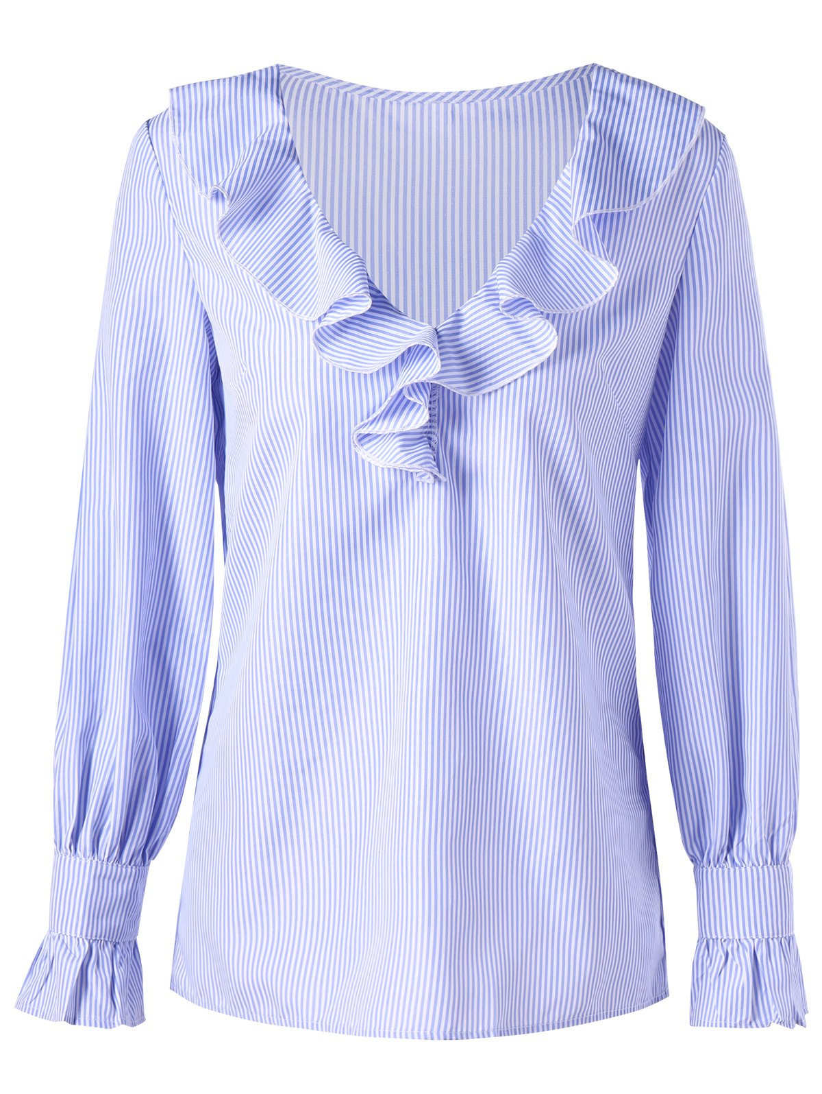 Rschen V-Ausschnitt Striped Bluse