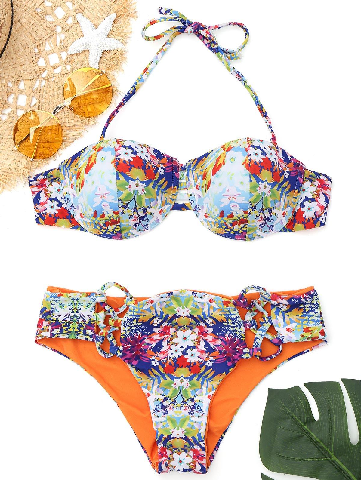 Push Up Printed Underwire Bikini 228924701