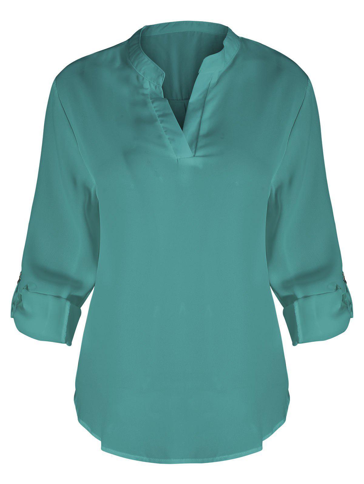 V-Ausschnitt plus Gre Bluse