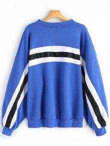Slouchy Striped Oversized Sweatshirt; Slouchy Striped Oversized Sweatshirt  ...