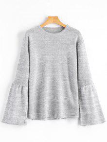 Sweater Feminino Manga Longa Sino - Cinza