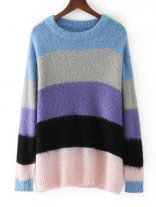 Suéter Feminino Com Listras Largas Coloridas - Listras