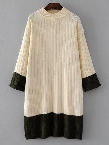 Suéter De Dos Tonos De Gran Tamaño - Blancuzco