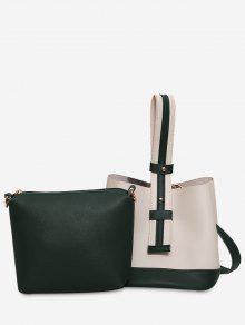 حقيبة يد بلونين - أبيض