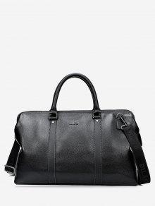 برشام خياطة بو الجلود حقيبة حمل - أسود