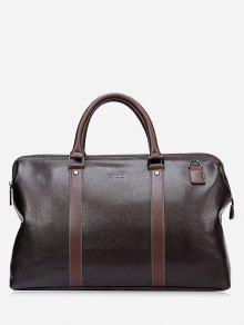 حقيبة توتي من الجلد المزيف مزينة بتفاصيل معدنية -