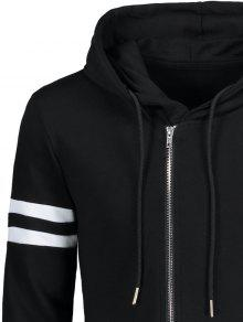 Xl Up Asim Varsity Stripe Zip 233;trica Sudadera Negro Larga qw47U4Cg8