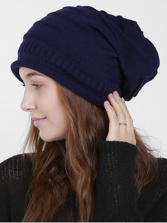 Cappello Stripy Slouchy Knit - Blu Violaceo