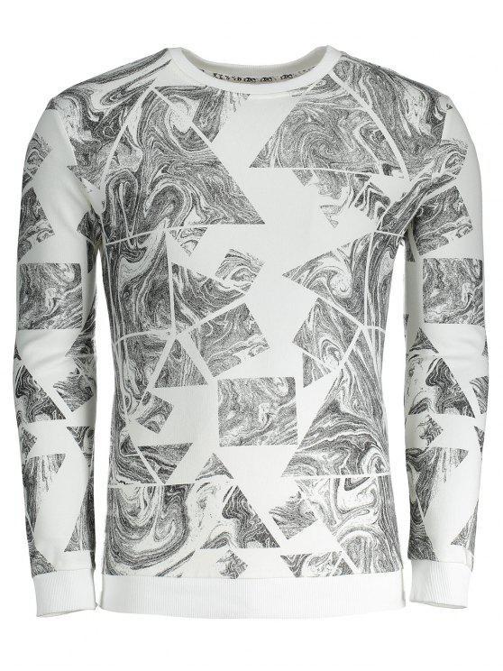 Camiseta para hombre de la impresión del extracto - Blanco 3XL