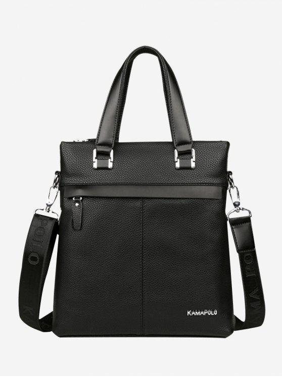 outfits Business Faux Leather Handbag - BLACK