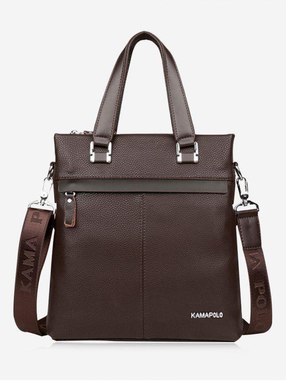 shop Business Faux Leather Handbag - BROWN