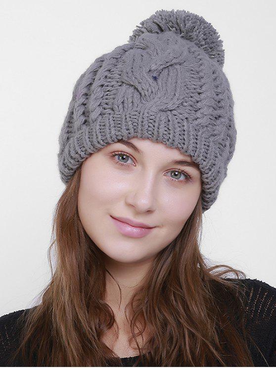 Cappello a cappello a cotone - Grigio