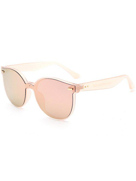 lady Outdoor Full Frame Mirror Butterfly Sunglasses - PINK